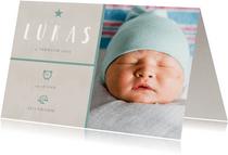 Danksagung Geburt grafisch grün eigenes Foto