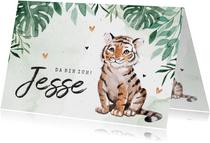Danksagung Geburt Tiger botanisch grün Foto innen
