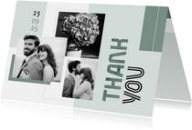 Danksagung Hochzeit Design abstrakt Fotocollage