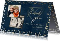 Danksagung Hochzeitstag Fotos & Goldkonfetti