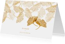 Danksagung zur Hochzeit Ginkgoblätter Stempel Foto innen