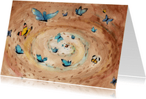 Dierenkaart vlinders in je buik