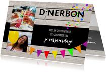 Dinerbon collage uitnodiging