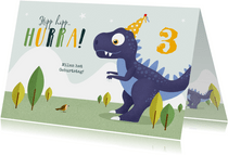 Dino-Glückwunschkarte Geburtstag