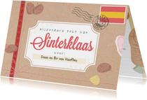 Echte post van Sinterklaas met daarin een brief van de Sint