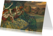 Edgar Degas. Vier danseressen