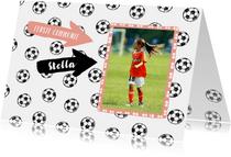 Eerste communie voetbal meisje