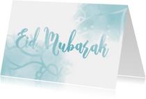 Eid Mubarak kaart waterverf met mandala