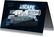 Einladung Escape Room Party - Labyrinth