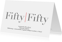 Einladung Fifty-Fifty 1