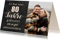 Einladung Gemeinsam Gut aussehen 80