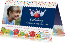 Einladung Kindergeburtstag Bowlingcenter Norderstedt