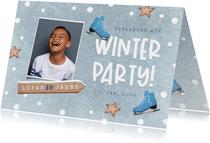 Einladung Kindergeburtstag Junge Winterparty Foto