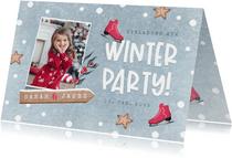 Einladung Kindergeburtstag Mädchen Winterparty Foto