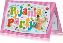 Einladung Kindergeburtstag Pyjamaparty Girls only