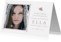 Einladung Konfirmation rosé Foto Eleganz schlicht