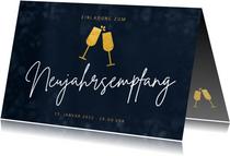 Einladung Neujahrsempfang Sektgläser
