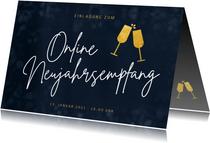 Einladung Online-Neujahrsempfang Sektgläser