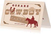 Einladung zum Cowboy-Kindergeburtstag