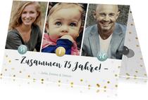 Einladung zum Familiengeburtstag mit Fotos und Konfetti