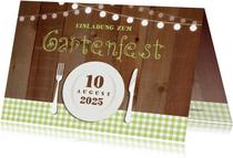 Einladung zum Gartenfest ländlich