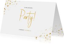 Einladung zum Geburtstag Party im Goldlook
