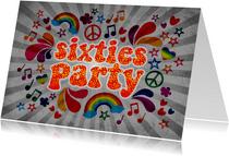 """Einladung zum Geburtstag """"Sixties Party"""""""