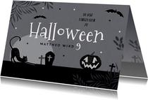 Einladung zum Halloween-Kindergeburtstag Gruselnacht