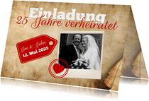 Einladung zum Hochzeitstag Pergamentpapier