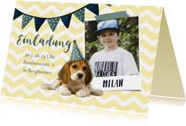 Einladung zum Kindergeburtstag Partyhund