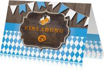 Einladung zum Oktoberfest in Blau-Weiß