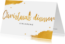 Einladung zum Weihnachtessen Christmas dinner
