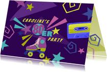 Einladung zur 80er-Jahre Motto-Party