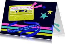 Einladung zur 80er-Jahre-Party mit Kassette