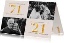 Einladung zur goldenen Hochzeit Fotos 1971-2021