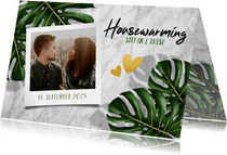 Einladung zur Housewarming-Party mit Fotos