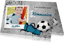 Einladung zur Kommunion Foto & Fußball