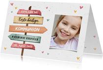 Einladung zur Kommunion Foto & Wegweiser