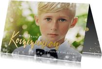 Einladung zur Kommunion Fotokarte Junge