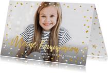 Einladung zur Kommunion Fotokarte Mädchen