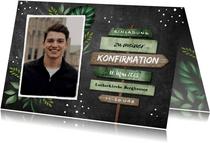 Einladung zur Konfirmation Foto Wegweiser botanisch