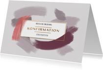 Einladung zur Konfirmation Pinselstriche