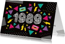 Einladung zur Mottoparty Eighties 1989
