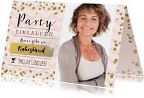 Einladung zur Ruhestand-Party rosa