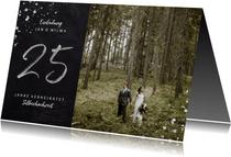 Einladung zur Silberhochzeit mit 25 und Foto