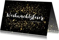 Einladung zur Weihnachtsfeier goldene Konfetti