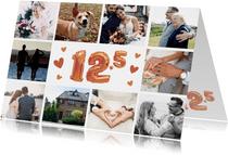 Einladungskarte 12,5 Jahre verheiratet Fotocollage