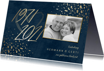 Einladungskarte 50. Hochzeitstag 1971-2021