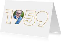 Einladungskarte für Geburtstagskinder aus dem Jahr 1959