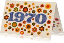 Einladungskarte Geburtstag Seventies 1970